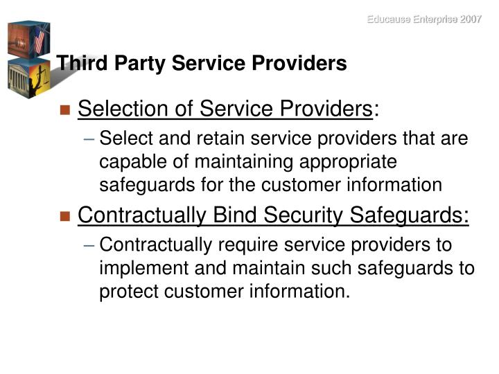 Third Party Service Providers
