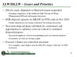 llw mllw issues and priorities
