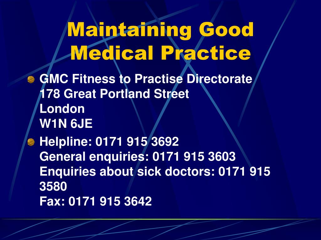 Ppt Maintaining Good Medical Practice Powerpoint Presentation Free Download Id 4328637