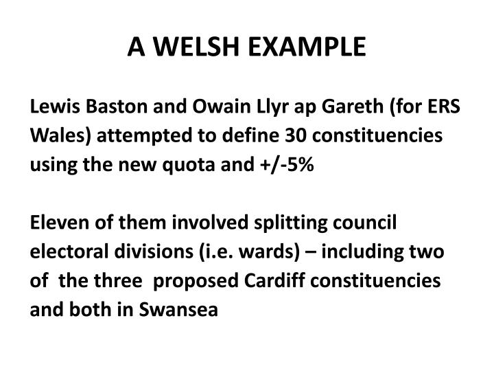 A welsh example