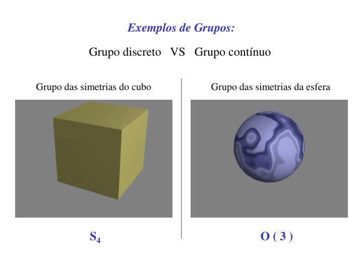 Exemplos de Grupos:
