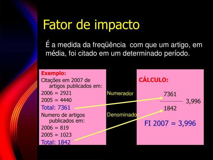 Fator de impacto