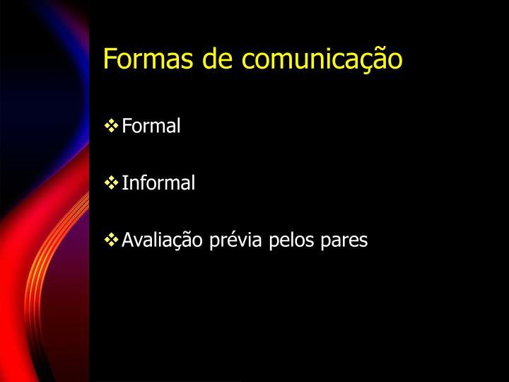 Formas de comunica