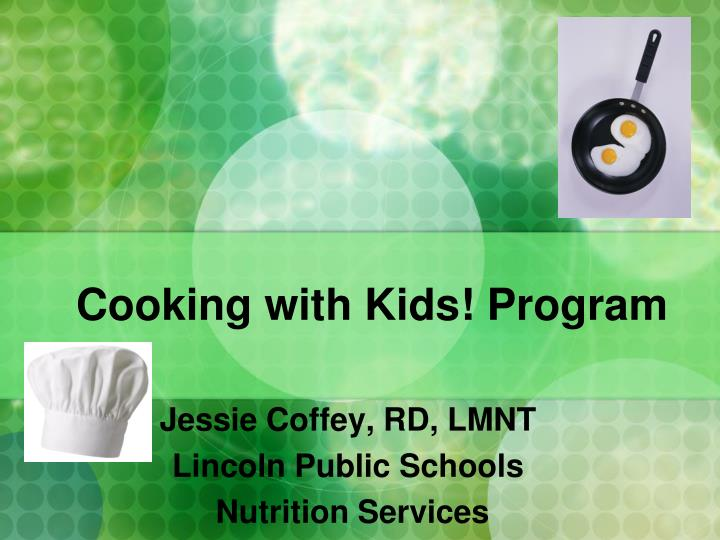 cooking with kids program n.