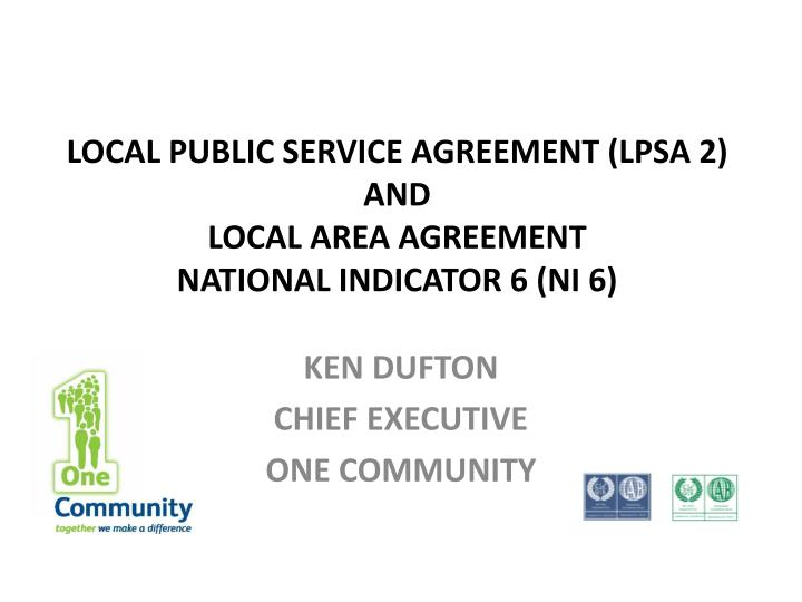 Ppt Local Public Service Agreement Lpsa 2 And Local Area