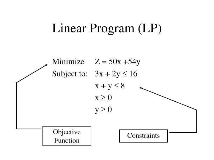 Linear program lp