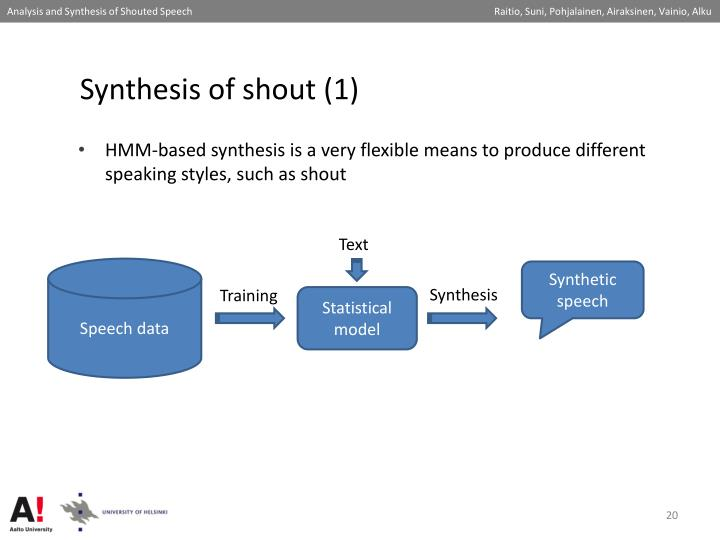 Synthesis of shout (1)