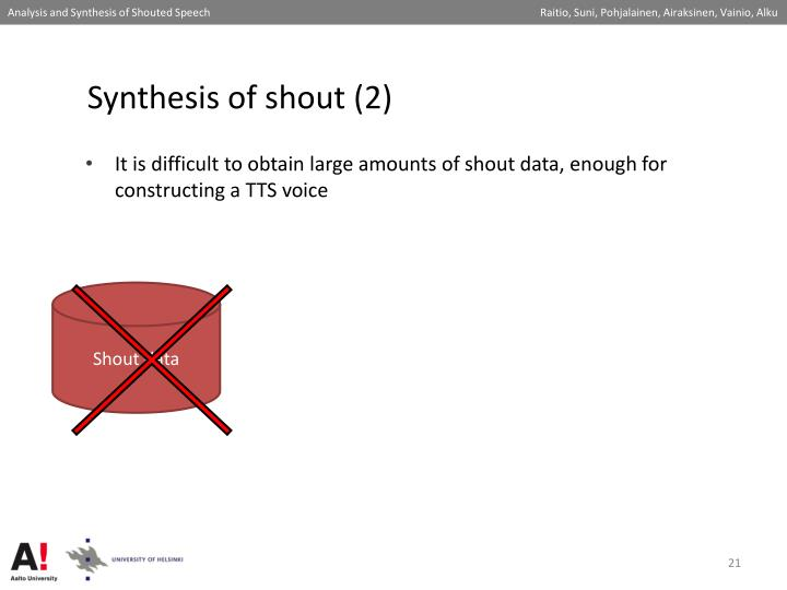 Synthesis of shout (2)
