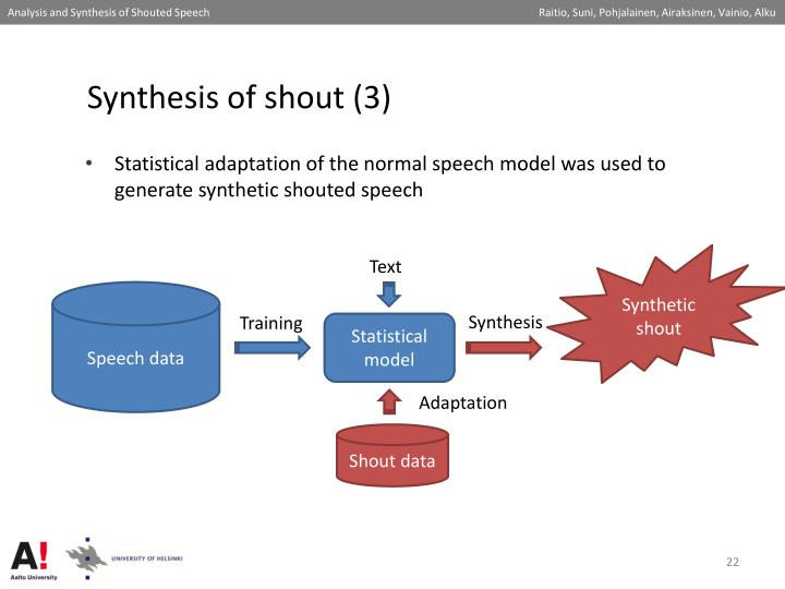 Synthesis of shout (3)