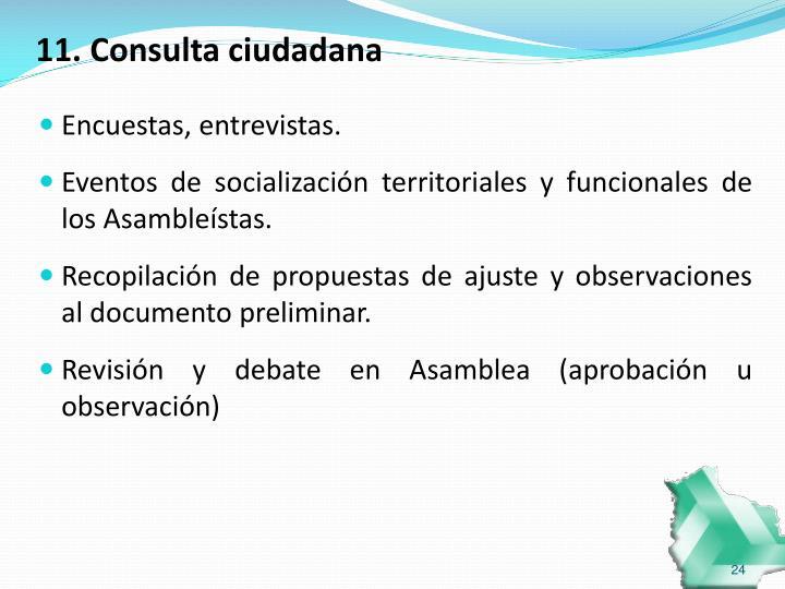 11. Consulta ciudadana