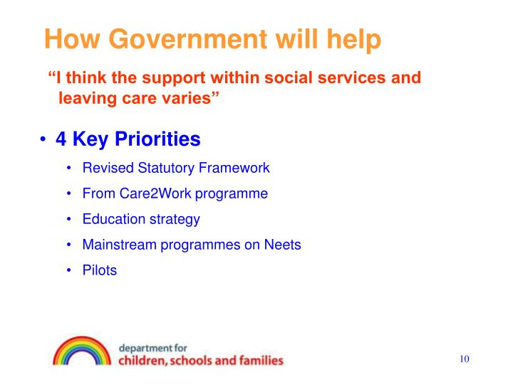 How Government will help