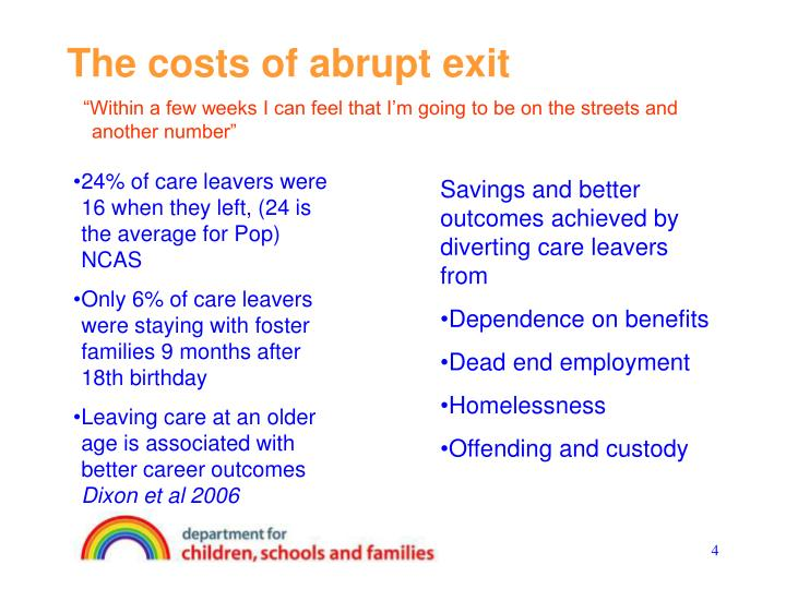 The costs of abrupt exit