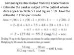computing cardiac output from dye concentration1