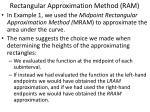 rectangular approximation method ram