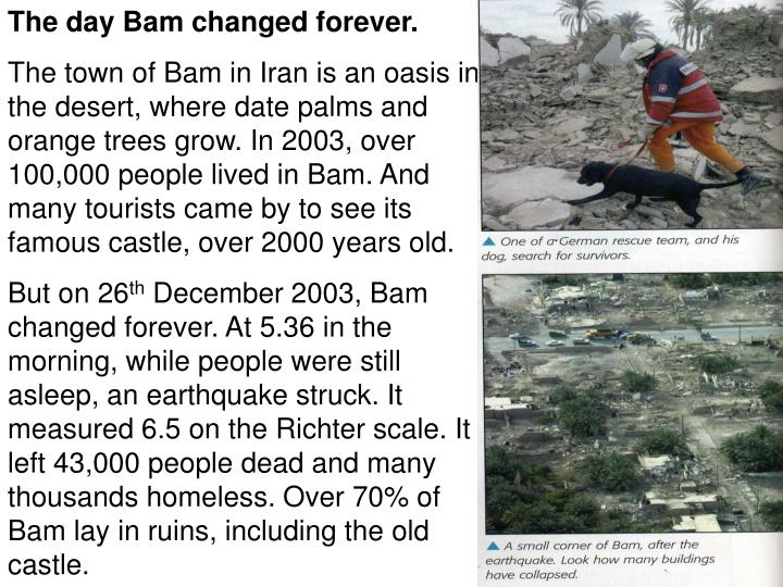 The day Bam changed forever.