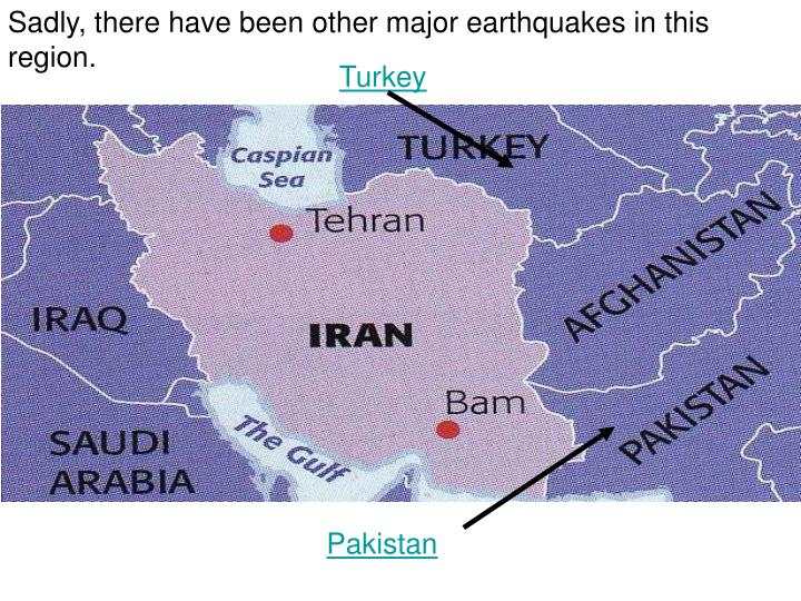 Sadly, there have been other major earthquakes in this region.