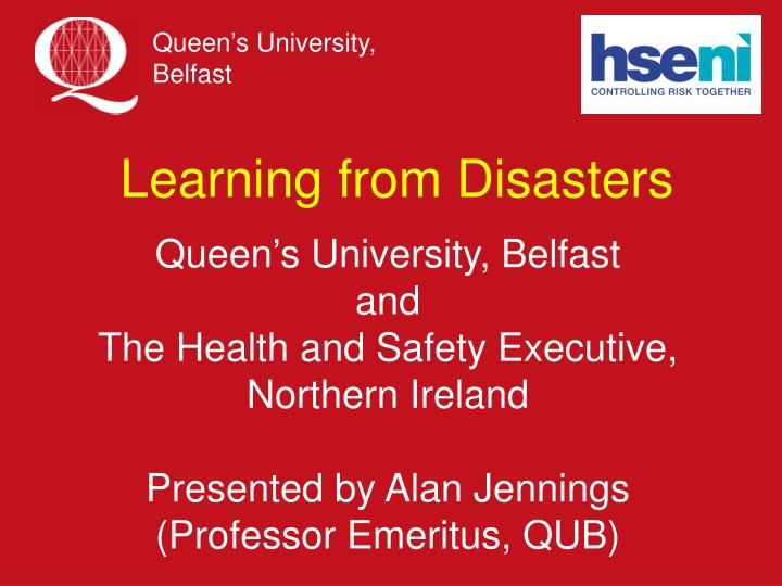 learning from disasters n.