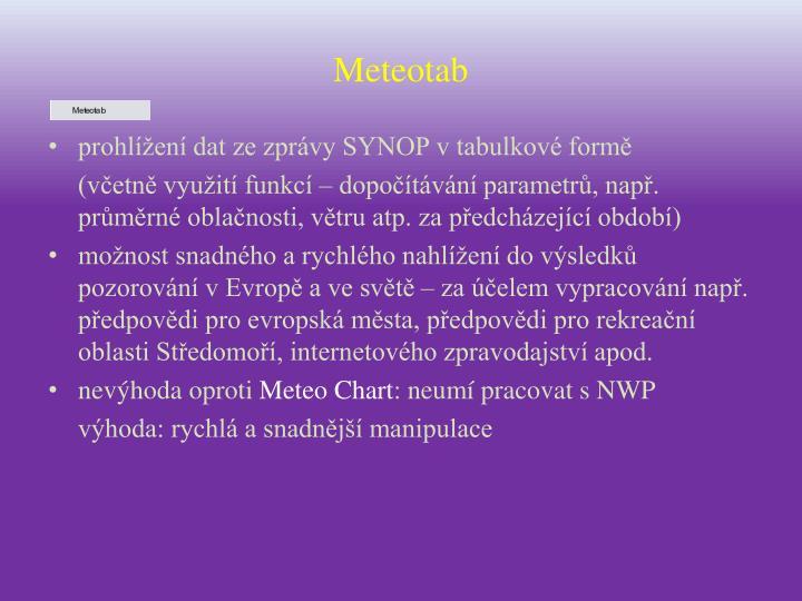 Meteotab