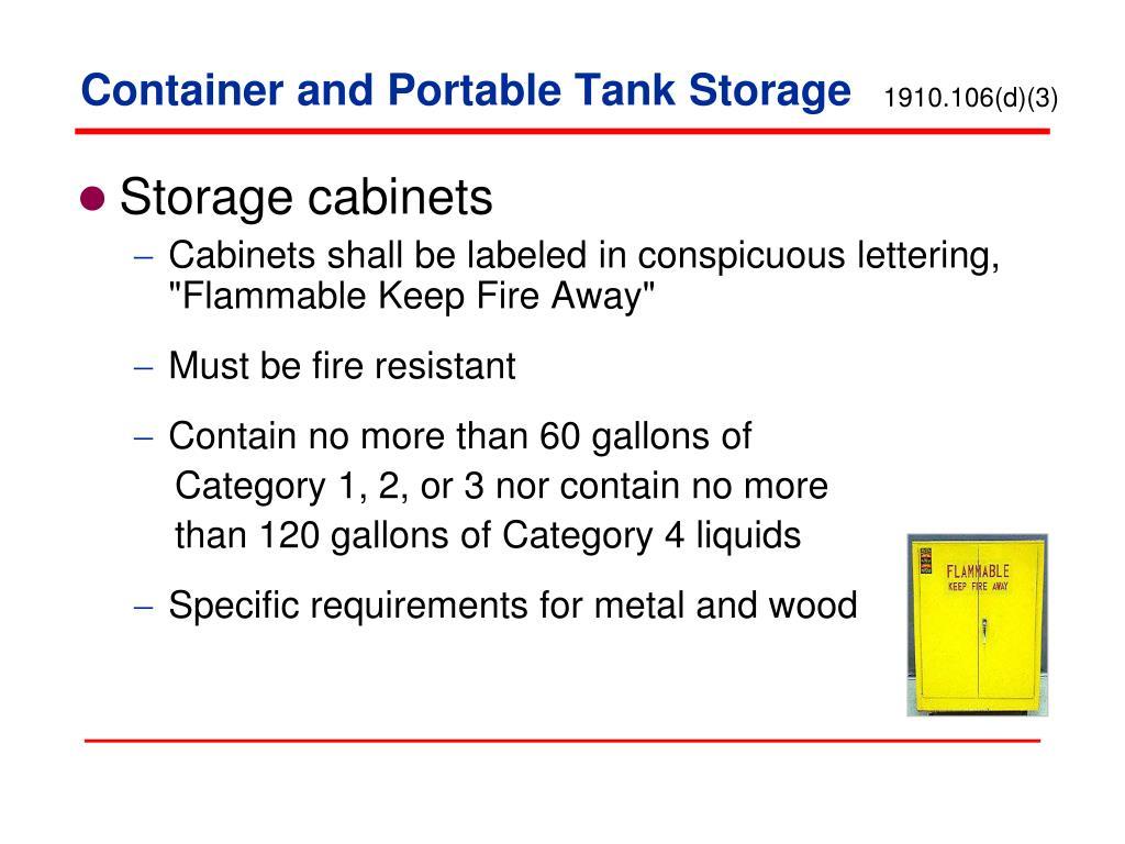 PPT - Storage of Flammable Liquids PowerPoint Presentation