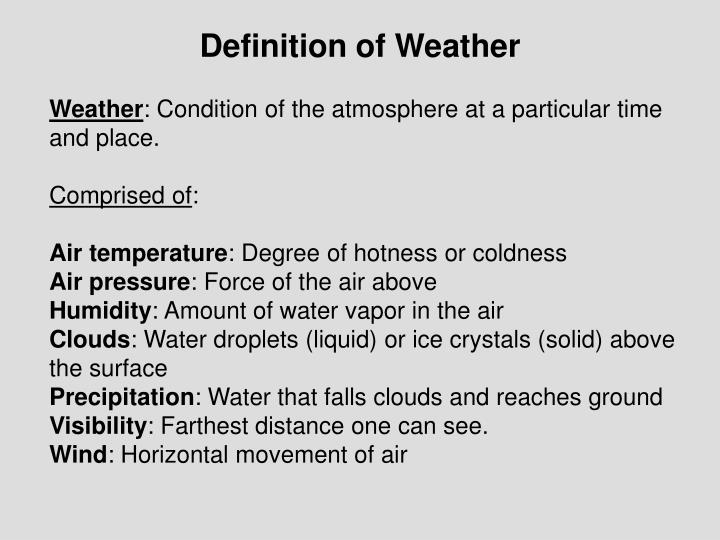 Definition of weather