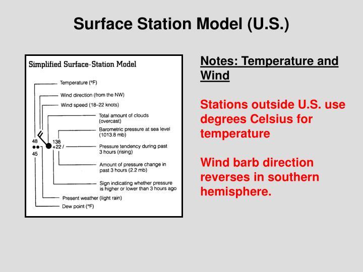 Surface station model u s