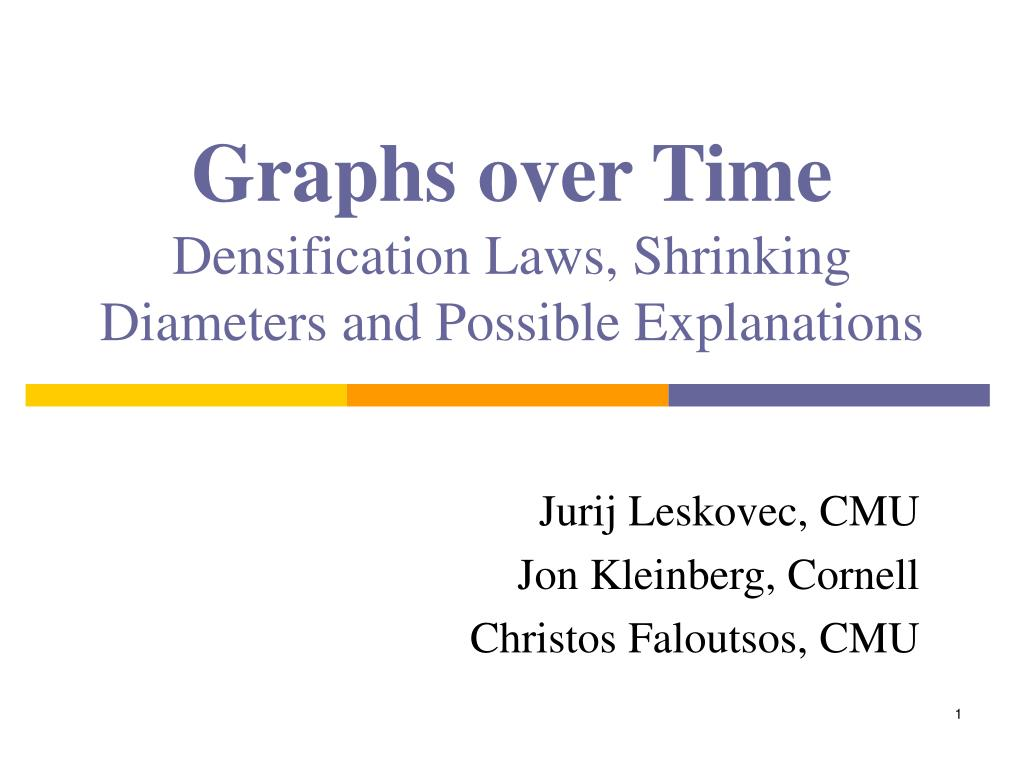 ppt graphs over time densification laws shrinking diameters and