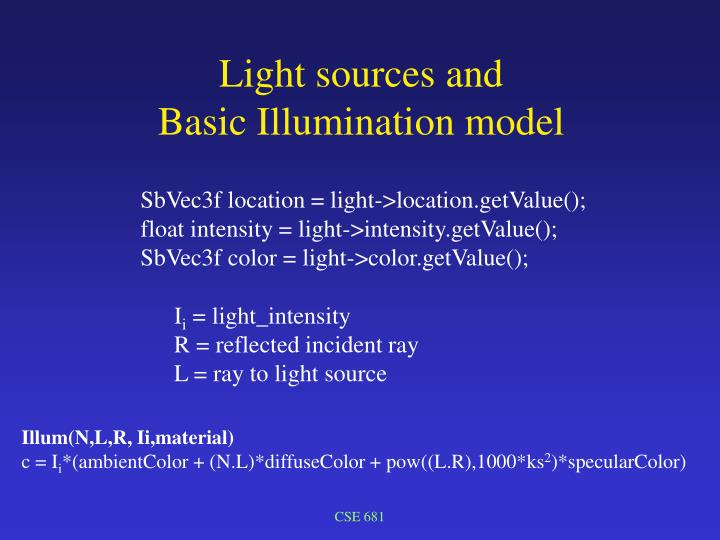 Light sources and