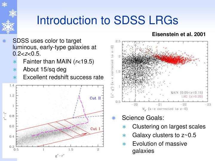 Introduction to SDSS LRGs