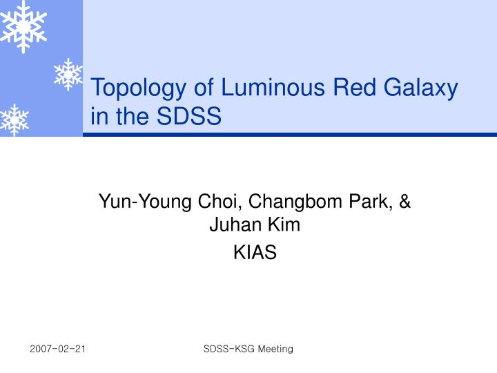 Topology of luminous red galaxy in the sdss