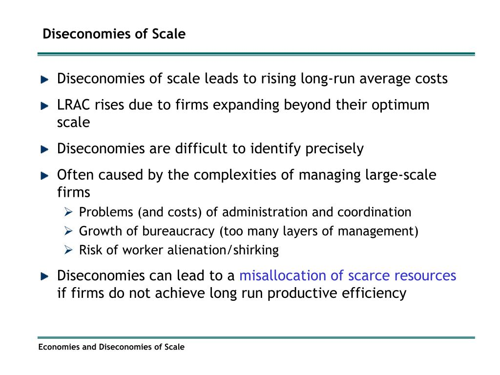 Economies of scale will cause long run