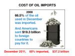 cost of oil imports