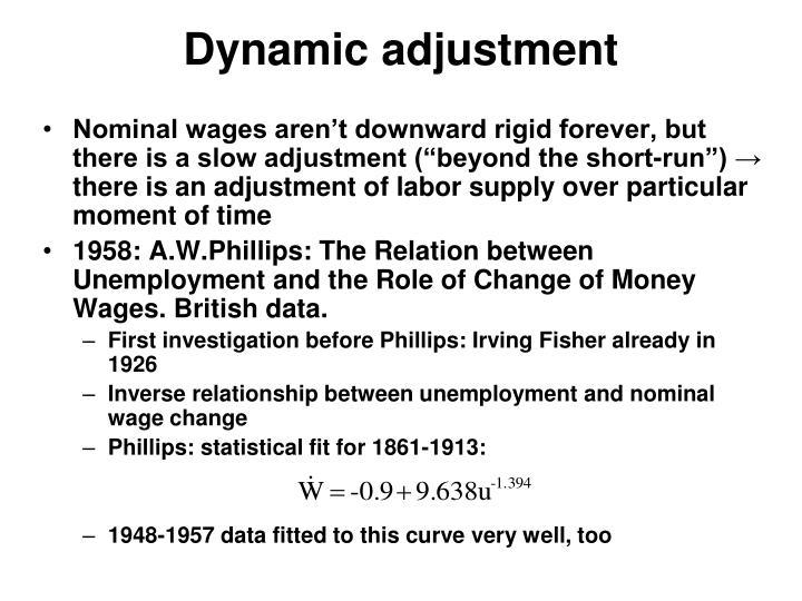 Dynamic adjustment
