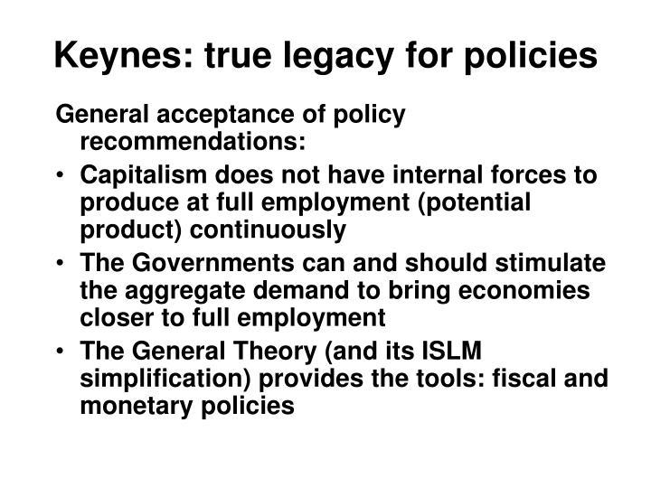 Keynes: true legacy for policies