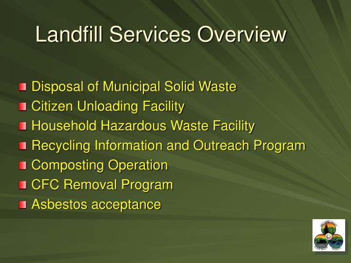 Landfill Services Overview