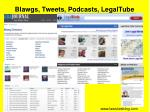 blawgs tweets podcasts legaltube