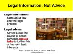 legal information not advice