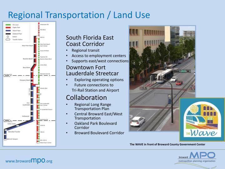 Regional Transportation / Land Use