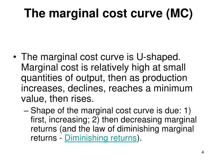 why marginal cost curve is u shaped