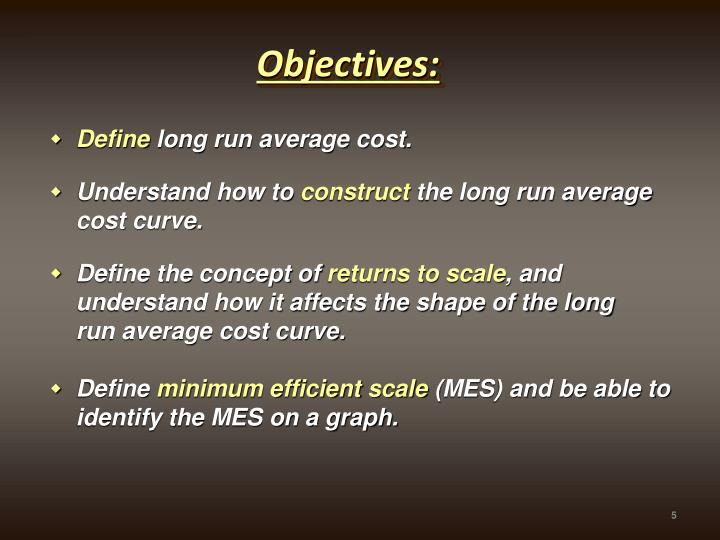 how to find long run average cost