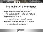 improving a performance