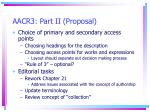 aacr3 part ii proposal