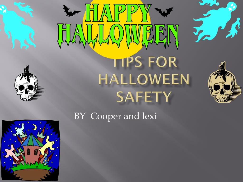 ppt tips for halloween safety powerpoint presentation id 4330597