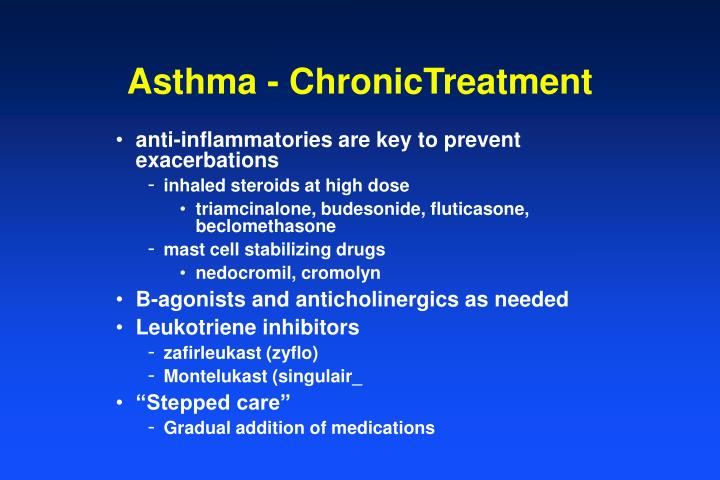 Asthma - ChronicTreatment