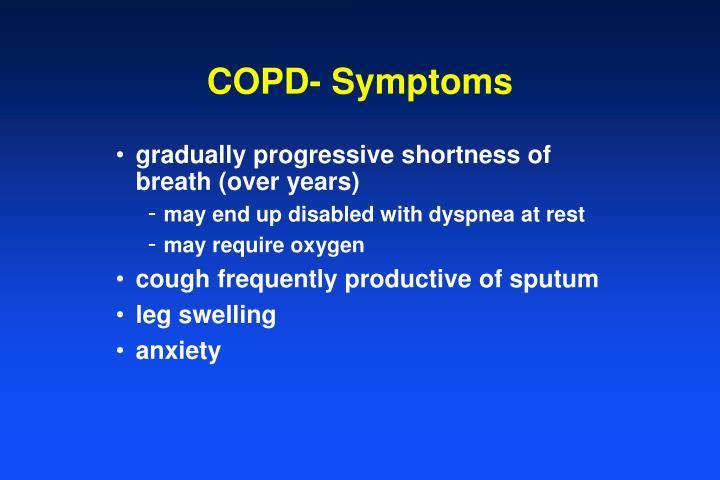 COPD- Symptoms