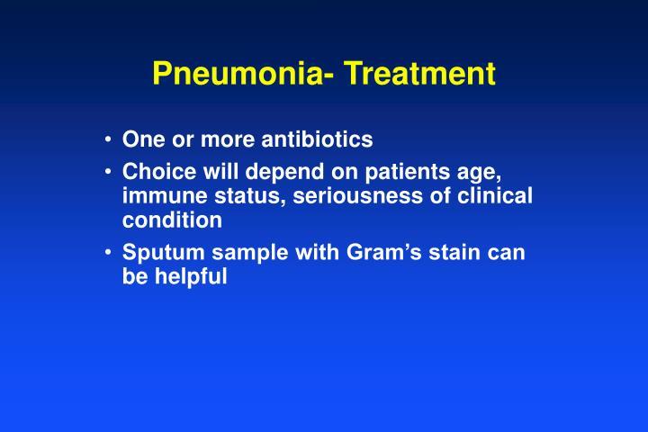 Pneumonia- Treatment