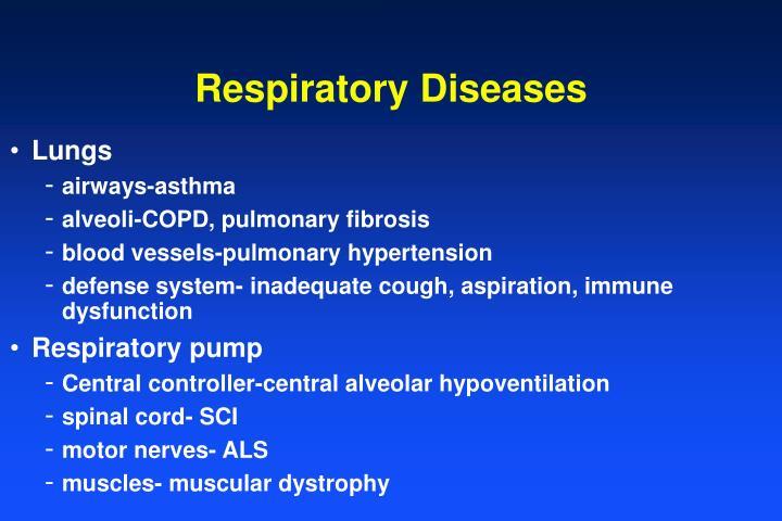 Respiratory diseases1