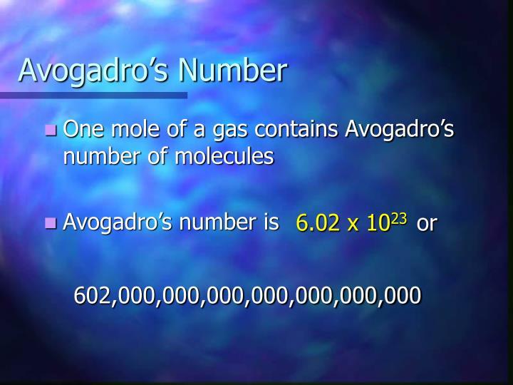 Avogadro s number