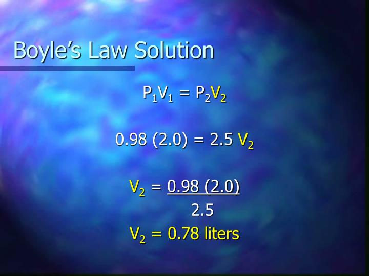 Boyle's Law Solution