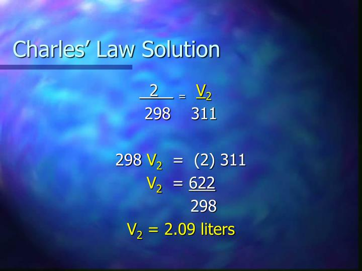 Charles' Law Solution