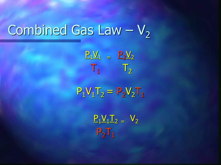 Combined Gas Law – V